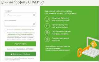 Регистрация в программе «Спасибо» от Сбербанка — пошаговая инструкция