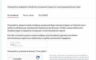 Личный кабинет портала городских услуг города Москвы PGU.mos.ru — Справочная информация
