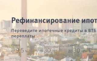 Рефинансирование ипотеки ВТБ 24, если ипотека взята в ВТБ 24