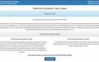 Официальный сайт лотереи Грин Карта: пошаговое руководство с примером заполнения анкеты для Green Card DV Lottery 2020