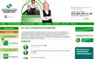 Обзор негосударственного пенсионного фонда «Социальное развитие»
