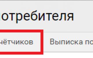 Передать показания счетчиков в Челябинске