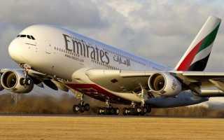 Регистрация на рейс Эмирейтс через интернет и в аэропорту на русском языке