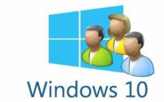 Управление правами учетной записи на Windows 10
