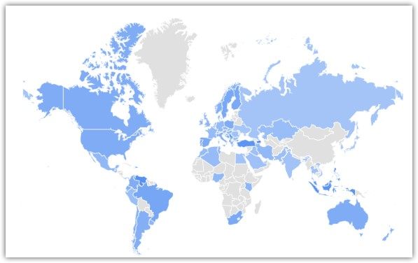 Популярность Инстаграм по регионам